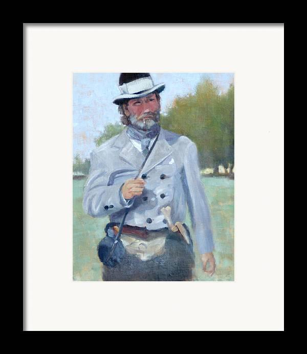 Civil War Framed Print featuring the painting Rebel Dandy by Sandra Harris