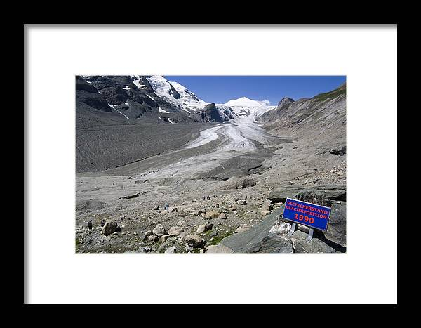 Pasterze Glacier Framed Print featuring the photograph Recession Of The Pasterze Glacier by Dr Juerg Alean
