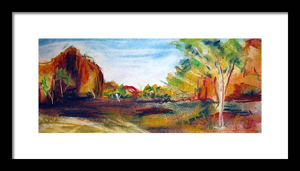 Central Australia Framed Print featuring the painting Red Centre by Jacqui Mckinnon