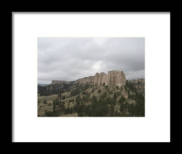 Rock Formation Framed Print featuring the photograph Red Cloud Buttes by J W Kelly