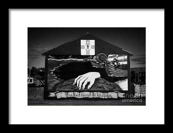 Belfast Framed Print featuring the photograph Red Hand Ulster Mural by Joe Fox
