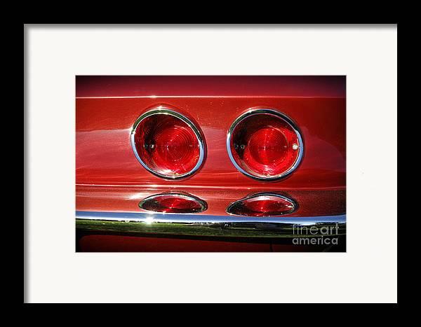 Corvette Framed Print featuring the photograph Red Hot Vette by Luke Moore