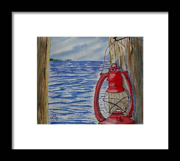 Spin Framed Print featuring the painting Red Lantern by Spencer Joyner