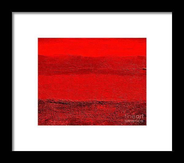 Mixed Media Framed Print featuring the digital art Red Ll by Marsha Heiken
