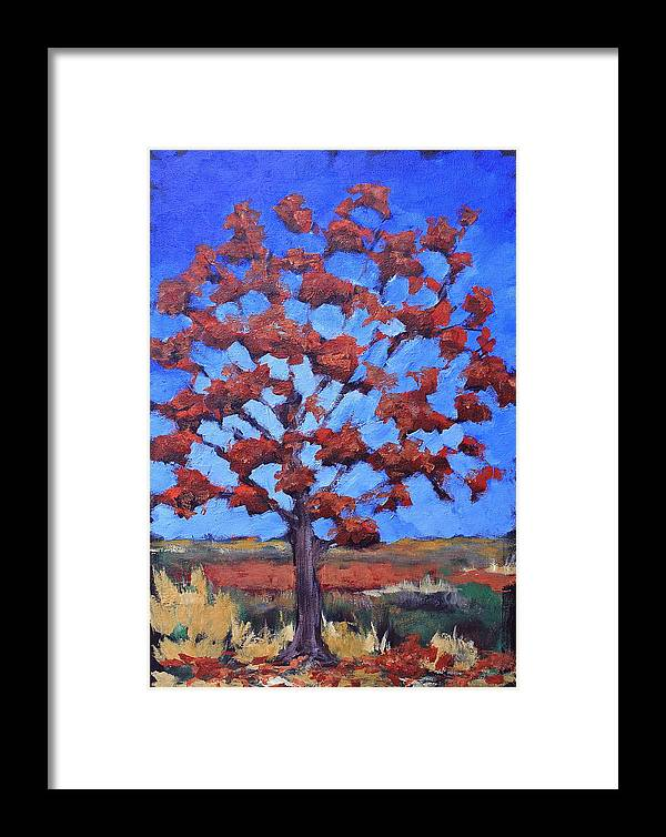 Tree Framed Print featuring the painting Red Maple by Lisa Masters