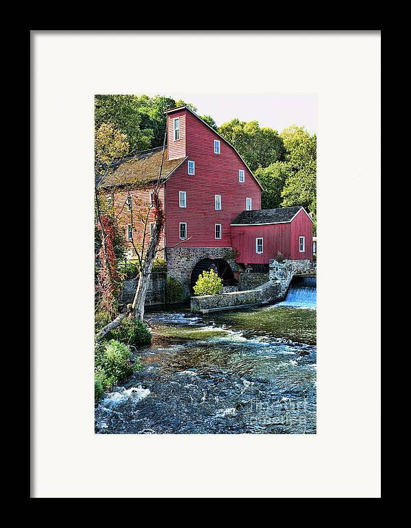 Paul Ward Framed Print featuring the photograph Red Mill On The Water by Paul Ward