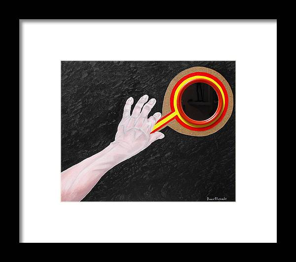 Geometry Framed Print featuring the painting Red Mirror by Bosco Alvarado