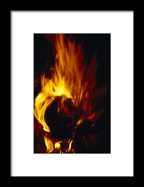 Eyre Creek Framed Print featuring the photograph Red, Orange And Yellow Flickering by Jason Edwards