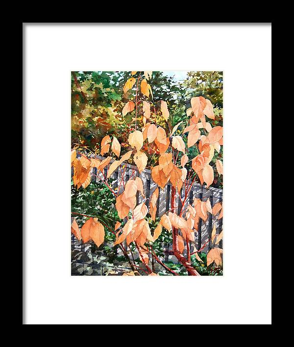 Dogwood Framed Print featuring the painting Red Osier by Peter Sit