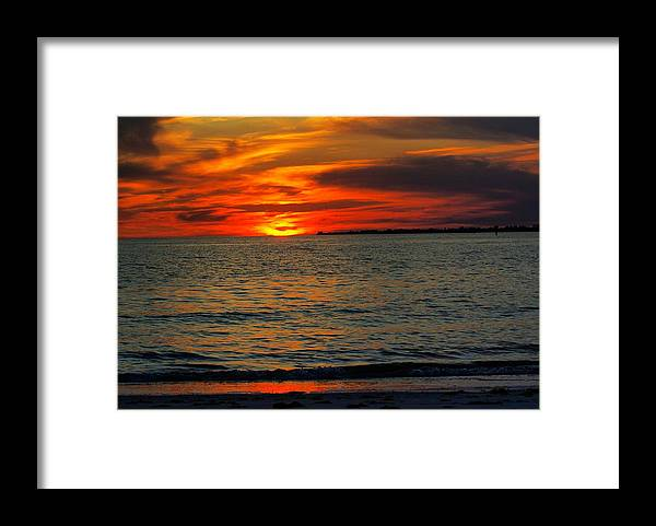 Sunset Framed Print featuring the photograph Red Reflections by Florene Welebny