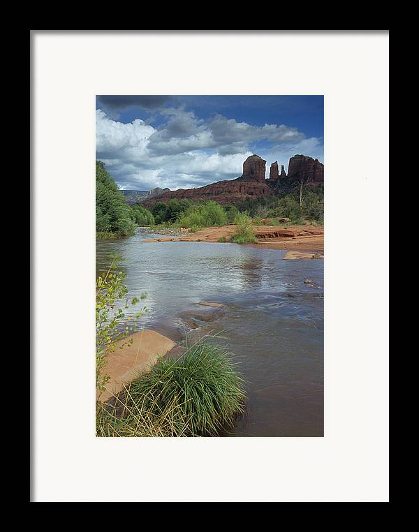 Outdoor Framed Print featuring the photograph Red Rock Crossing In Sedona, Arizona by David Edwards