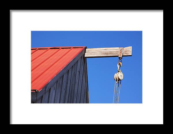Cold Spring Farm New Jersey Framed Print featuring the photograph Red Roof Barn by Tom Singleton