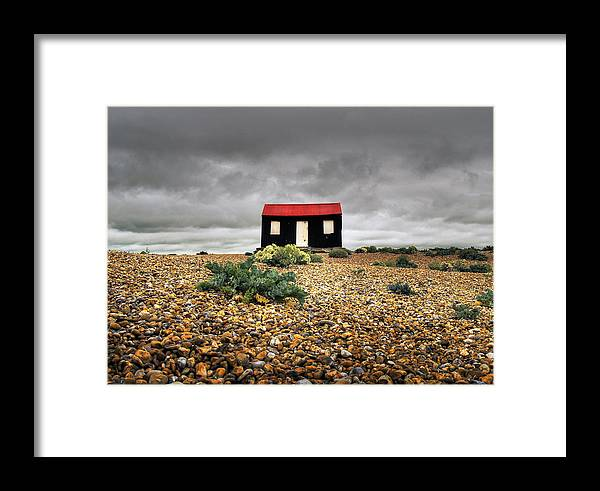 Red Framed Print featuring the photograph Red Roofed Hut by Andy Linden