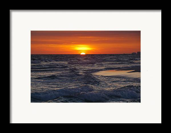 Sunset Framed Print featuring the photograph Red Skies At Night by Charles Warren