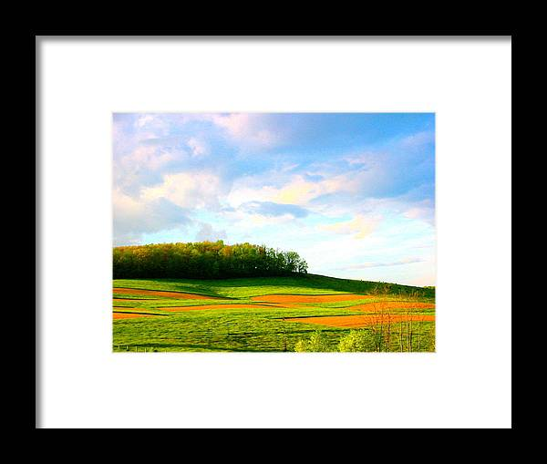 Landscape Photo Framed Print featuring the photograph Red Till by Sarah Gayle Carter