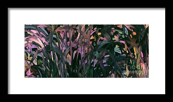 Reeds Framed Print featuring the digital art Reeds by David Klaboe
