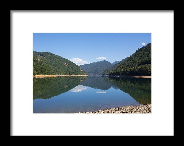 Art Framed Print featuring the photograph Reflection At The Reservoir by Belinda Greb