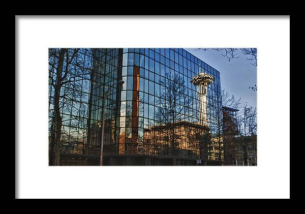 Seattle Framed Print featuring the photograph Reflection by Chuck Bowser