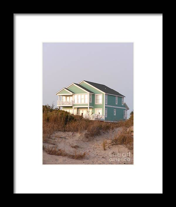 Taffy Colored Framed Print featuring the photograph Reflections from a Beach House by Beebe Barksdale-Bruner
