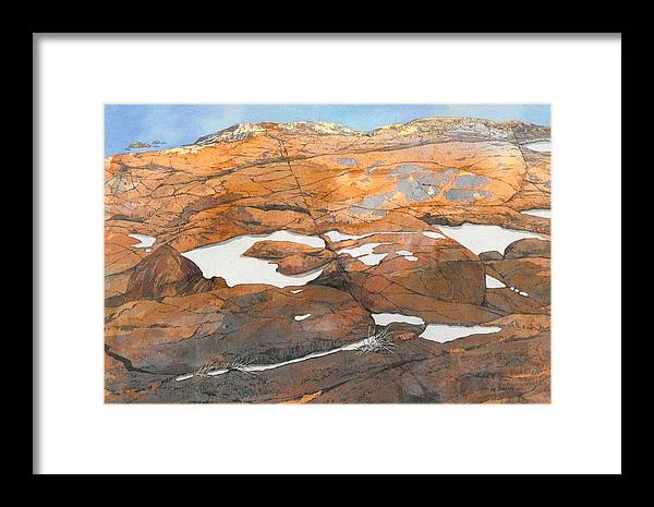 Landscape Framed Print featuring the painting Reflections by Lin Souliere
