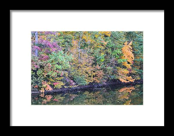 Fall Framed Print featuring the photograph Reflections Of A Tapestry 2 by Kim Hymes