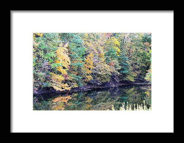 Ponds Framed Print featuring the photograph Reflections Of A Tapestry by Kim Hymes