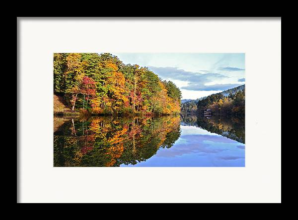 Landscape Framed Print featuring the photograph Reflections Of Autumn by Susan Leggett