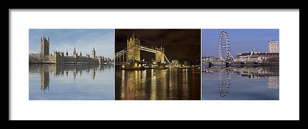 London Framed Print featuring the photograph Reflections On The Thames by Fran Walding