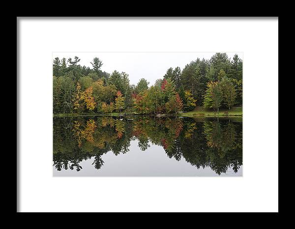 Adirondack Framed Print featuring the photograph Reflective Turtle Pond - Adirondack Park New York by Brendan Reals