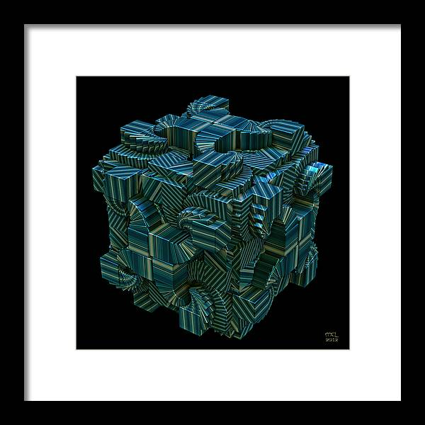 Computer Framed Print featuring the digital art Relativity II by Manny Lorenzo