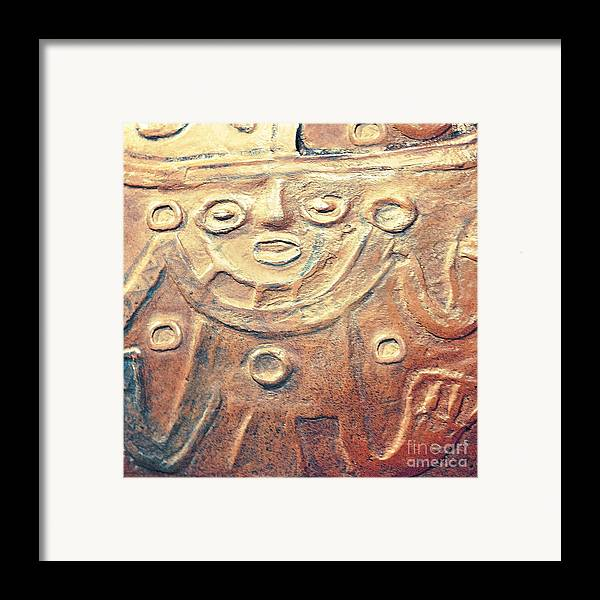 Creative Photography Pictures Framed Print featuring the photograph Relief Art In Earthtones by Artist and Photographer Laura Wrede