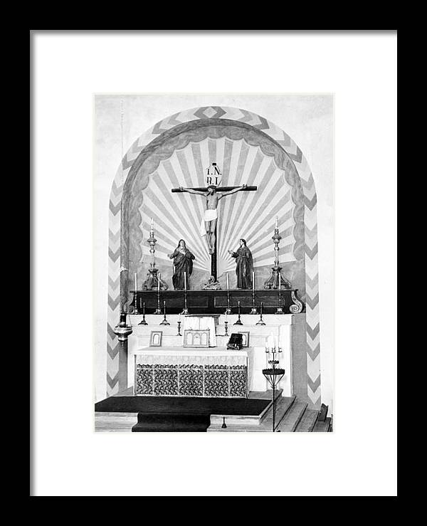 1920s Framed Print featuring the photograph Religion, Mission San Carlos Borromeo by Everett