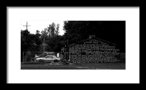 Louisiana Framed Print featuring the photograph Religious Rant- Jackson Street - Monroe Louisiana by Doug Duffey