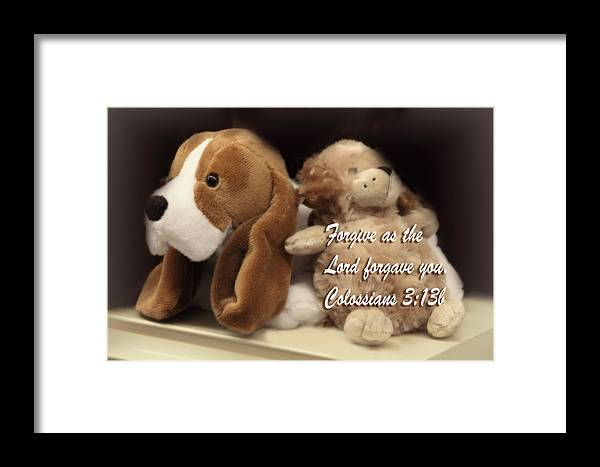 Scripture Framed Print featuring the photograph Remembering Childhood Days Col 3v13b by Linda Phelps