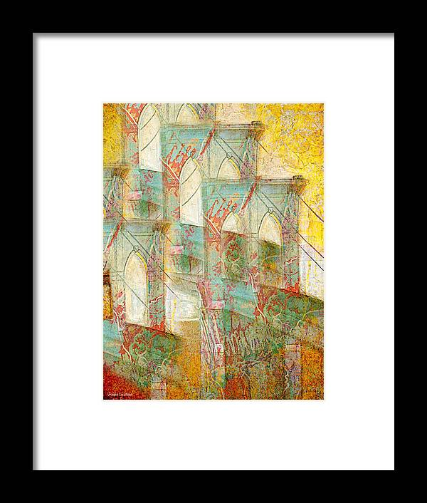 Manhatten Framed Print featuring the painting Repeat by Barbie Guitard