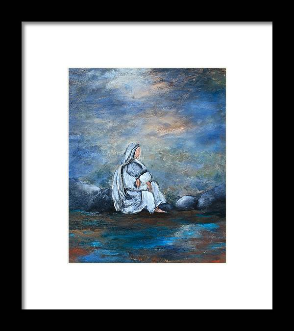Art Framed Print featuring the painting Repose by Lisa Masters
