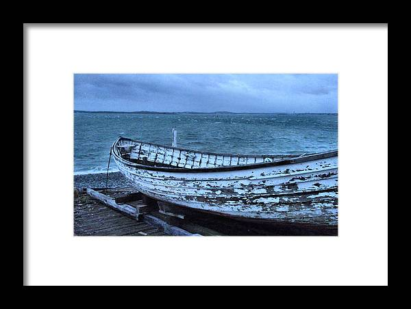 Framed Print featuring the photograph Rescue Boat by Kevin Moore