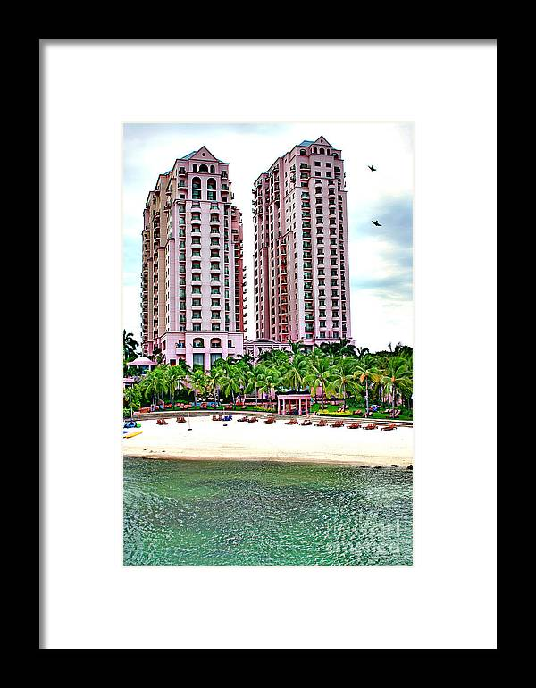 Hotel Framed Print featuring the photograph Resort Hotel Mactan Island by Anita Antonia Nowack