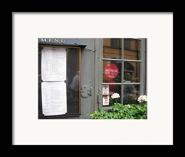 Restoran Framed Print featuring the photograph Restoran From Michelin by Yury Bashkin