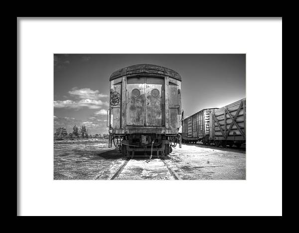 Train Framed Print featuring the photograph Retired by Armando Perez