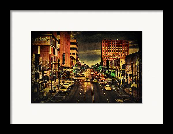 College Avenue Framed Print featuring the photograph Retro College Avenue by Joel Witmeyer