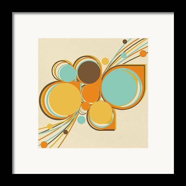 Art Framed Print featuring the digital art Retro Pattern by Setsiri Silapasuwanchai