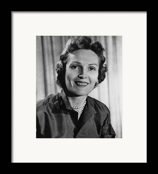 1960s Framed Print featuring the photograph Richard Nixon. Future First Lady by Everett