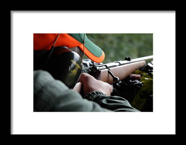 Rifle Framed Print featuring the photograph Rifle Training by Ulrich Kunst And Bettina Scheidulin