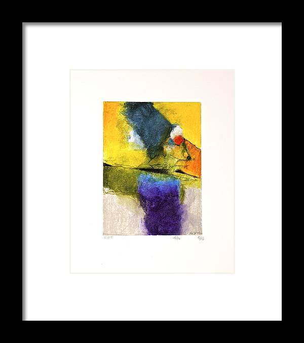 Abstract Framed Print featuring the painting Rift  --start- 5-16 by Cliff Spohn