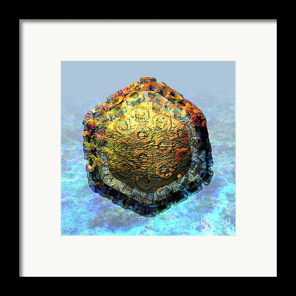 Africa Framed Print featuring the digital art Rift Valley Fever Virus 2 by Russell Kightley