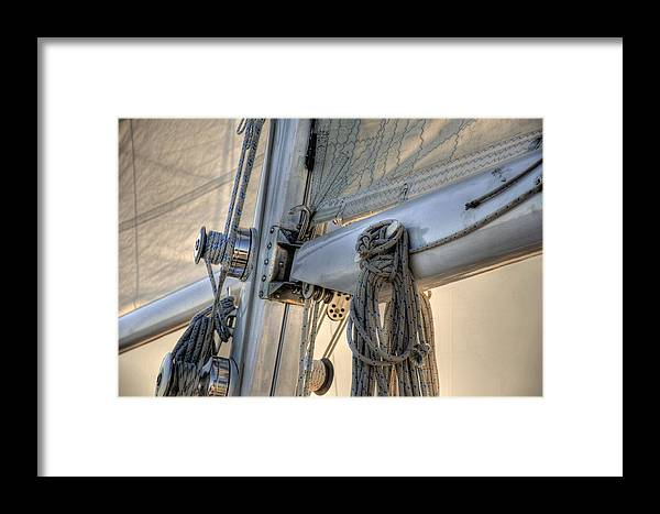 Live Life's Adventures Framed Print featuring the digital art Rigged by Barry R Jones Jr