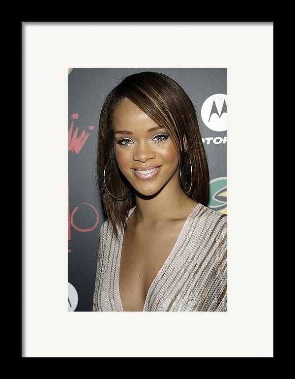 Jay-z And Lebron James� First Annual Two Kings Dinner Party Framed Print featuring the photograph Rihanna At Arrivals For Jay-z by Everett