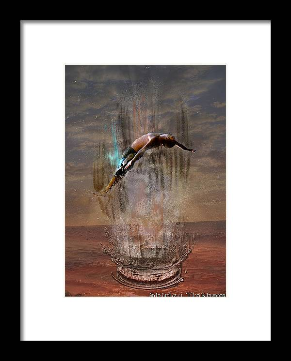 Water Framed Print featuring the photograph Rise by Shirley Tinkham