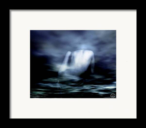 Digital Art Framed Print featuring the digital art Rising by Gun Legler